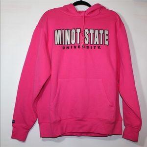 Minot State University fleece pink sweatshirt